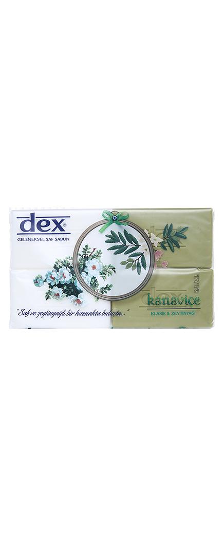 Dex Banyo Sabunu Kanaviçe 4x150 gr - Saf & Zeytin